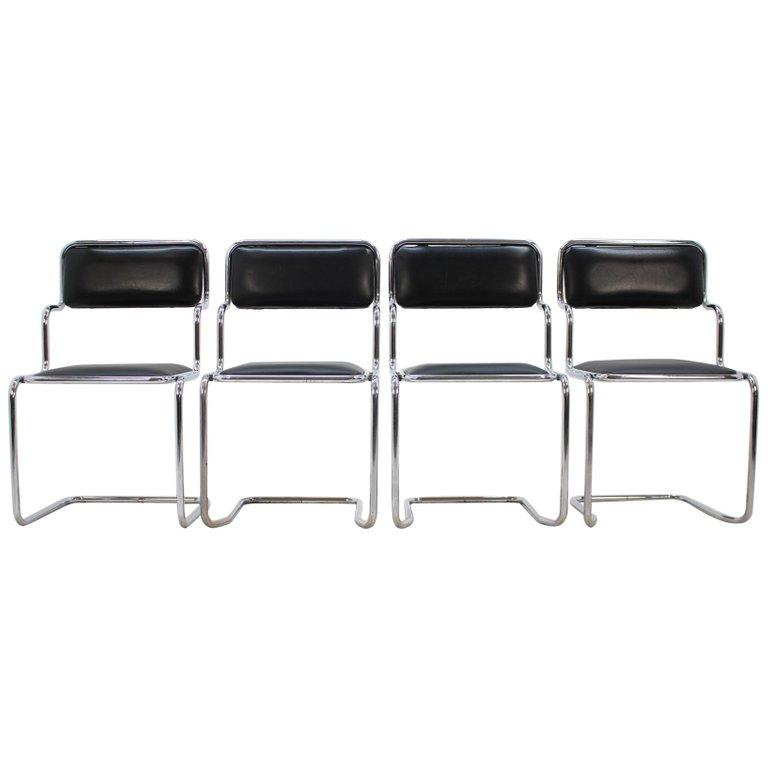 Set of Four Chairs by Arch. Ladislav Vrátník for Gallery Mánes 'Prag,' 1970s