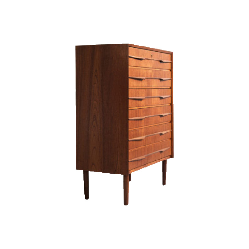 danish-chest-of-6-drawers-in-teak-long-drawer-handle-in-2-parts