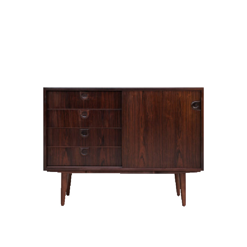 danish-cupboard-in-rosewood-with-4-drawers-and-1-sliding-door