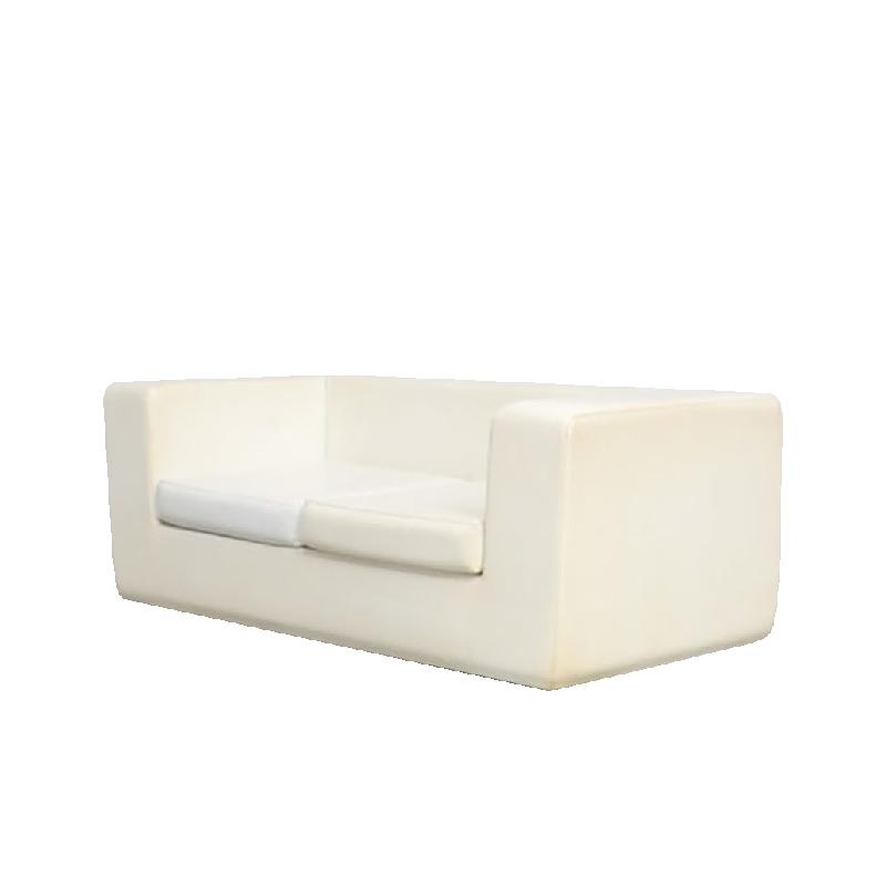 White Throw-Away Sofa by Willie Landels for Zanotta, 1965