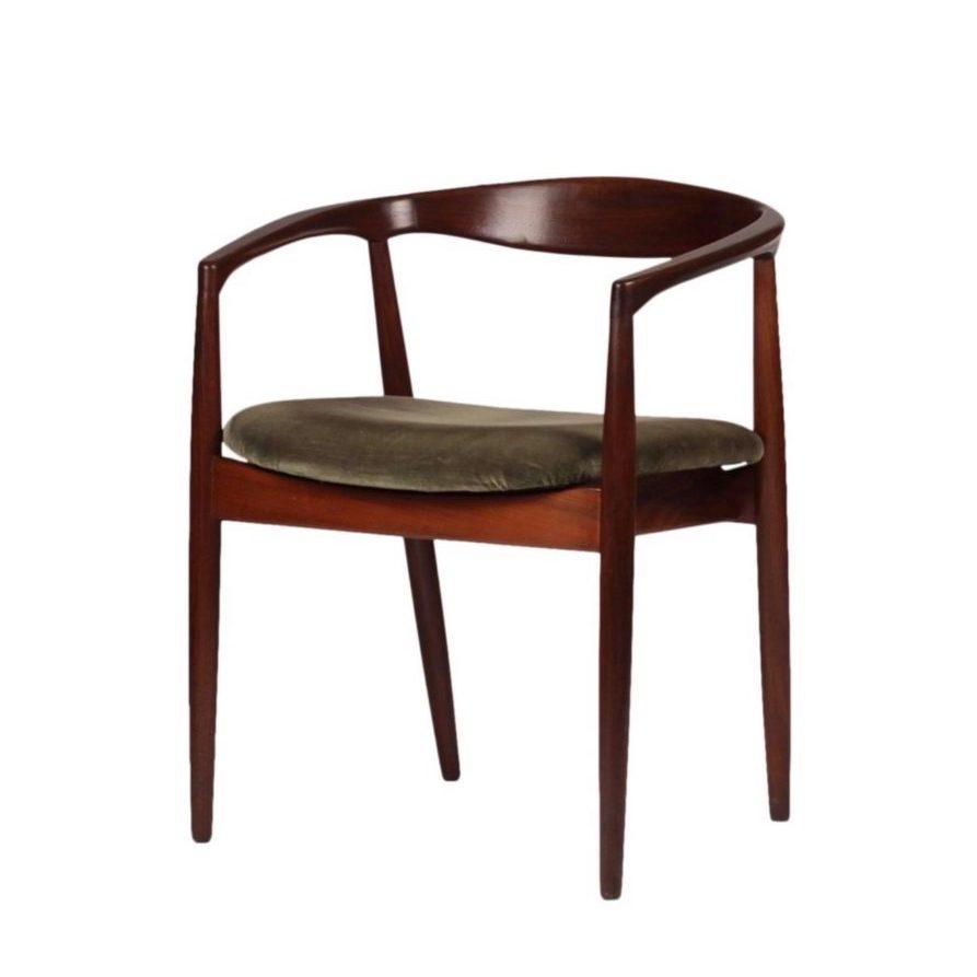 Set of Four Mid Century Modern Teak Troja Dining Chairs by Kai Kristiansen