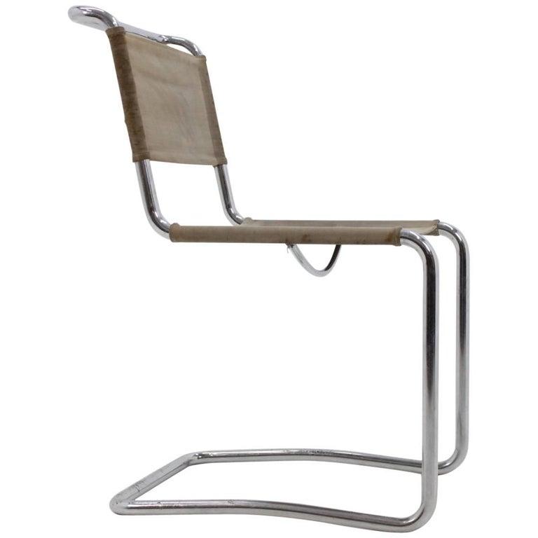 Rare Chrome Bauhaus Chair, UP Závody, J. Halabala