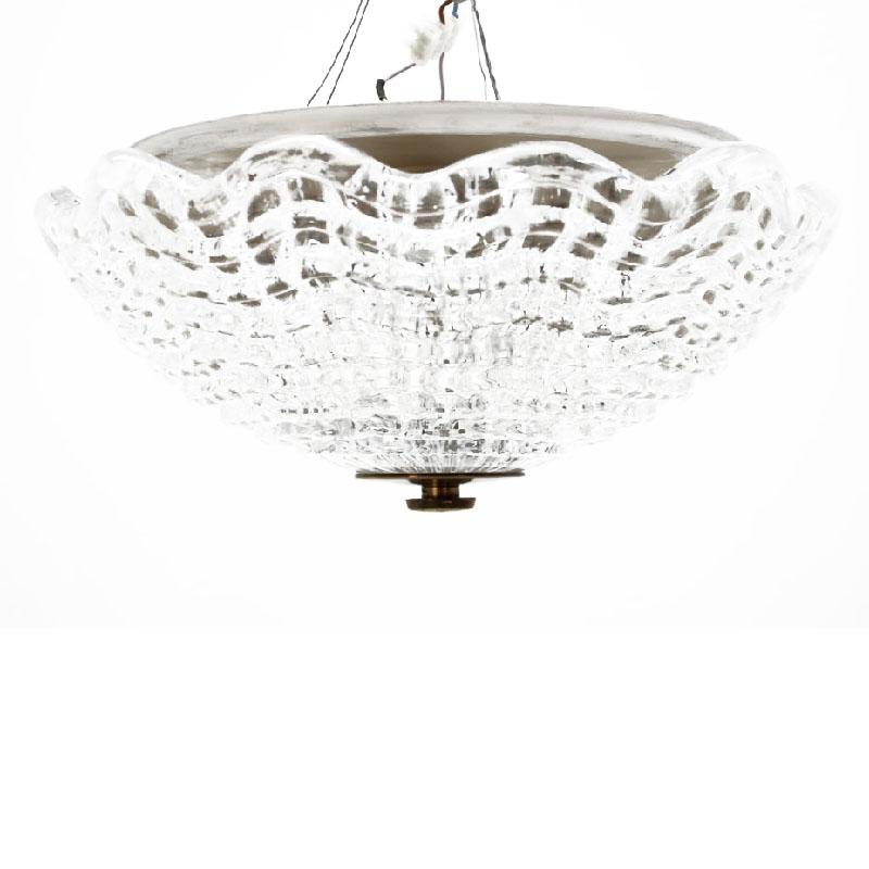 1960'S Carl Fagerlund for Orrefors Glass Pendant Lamp