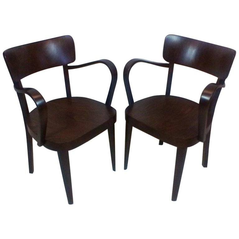 Set of Two Chairs by Thonet, 1940s
