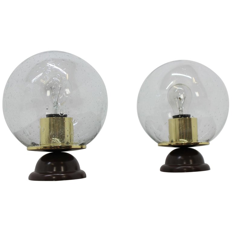 Pair of Midcentury Table Lamps, 1980s