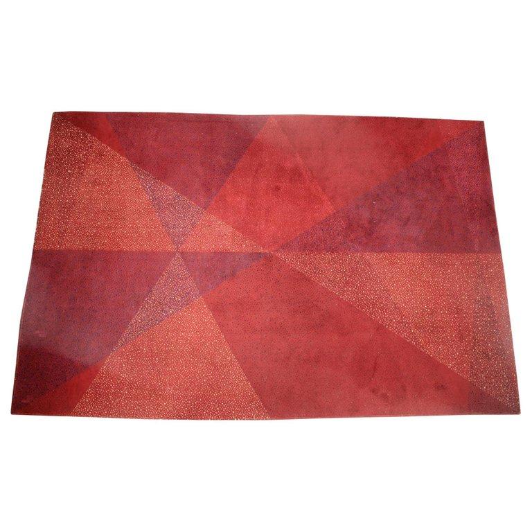 Midcentury Geometric Carpet or Rug, 1970s