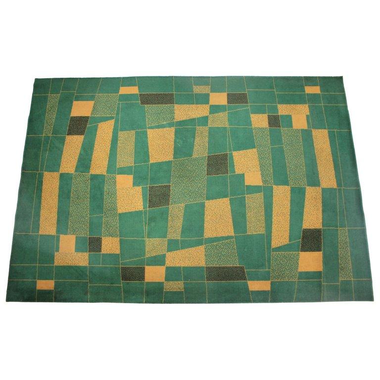 Beautiful Midcentury Geometric Carpet or Rug, 1950s
