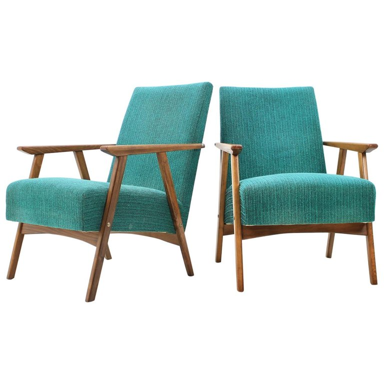 Set of Two Lounge Chairs, 1960s
