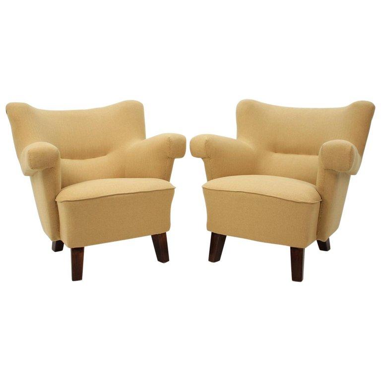 1950 Large Lounge Chair, Czechoslovakia