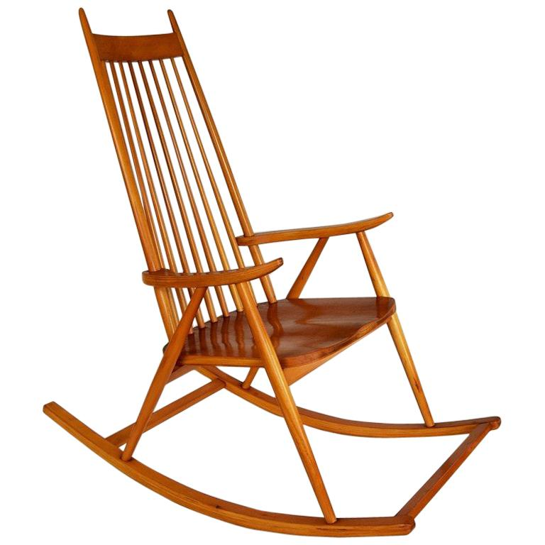 Vintage Rocking Chair in the Scandinavian Style, 1970s
