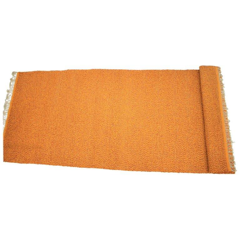 Big Midcentury Handwoven Carpet / Rug by Valašské Meziříčí, 1960s