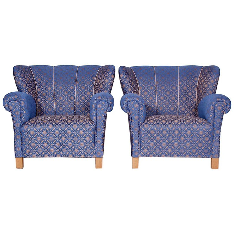 """Set of Two Beautiful """"Club Armchairs"""", 1930s"""