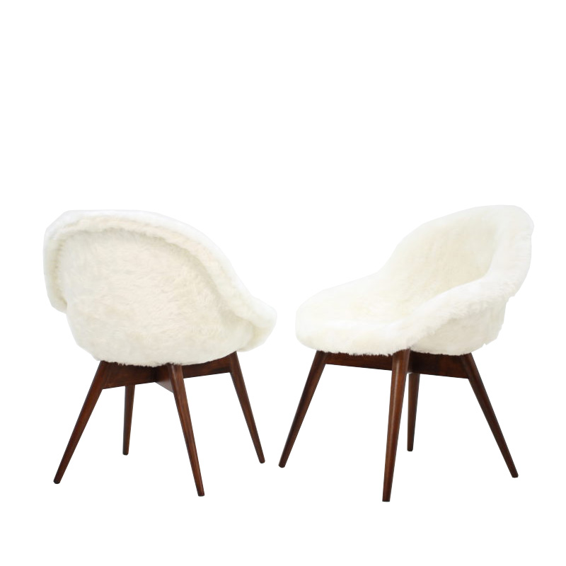 Pair of two dining chairs by Miroslav Navratil , 1960´s