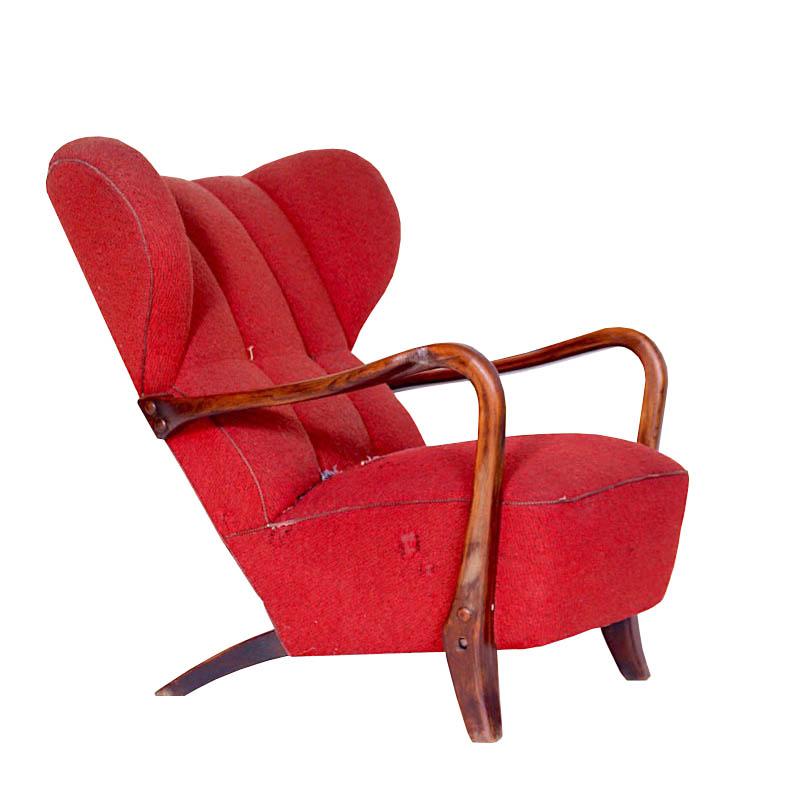 Beautiful wing chair, Czechoslovakia.