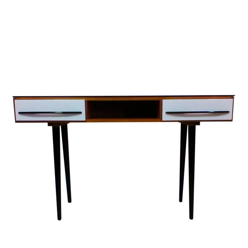 Writing desk designed by architect M. Požár, retro style Brussel 1960´s.