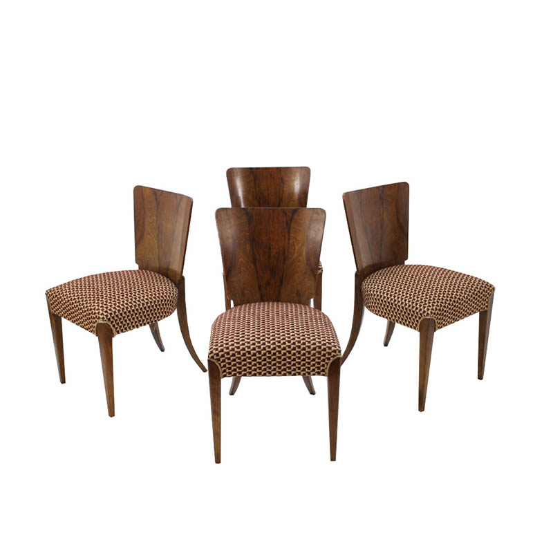 Dining Chairs by Jindřich Halabala for UP Zavody, Set of 4