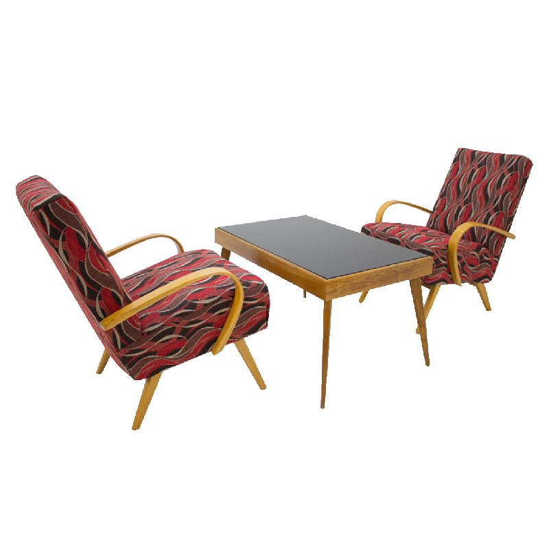 Set of Armchairs and Coffee Table by Jaroslav Smidek, 1960s