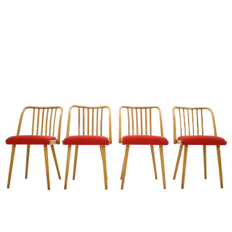 Set of four dining chairs / Antonín Šuman, 1960s