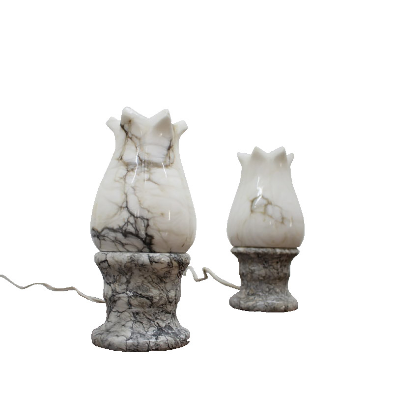 Set of two unusual stone table lamps, 1960´s