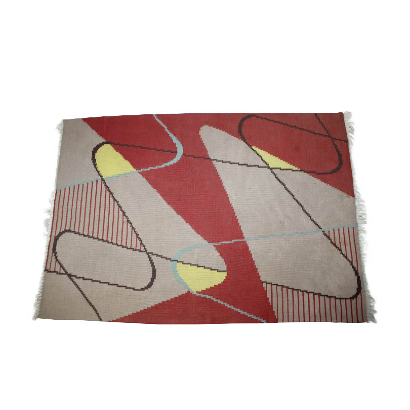 Design geometric carpet in style of Antonín Kybal, 1950s