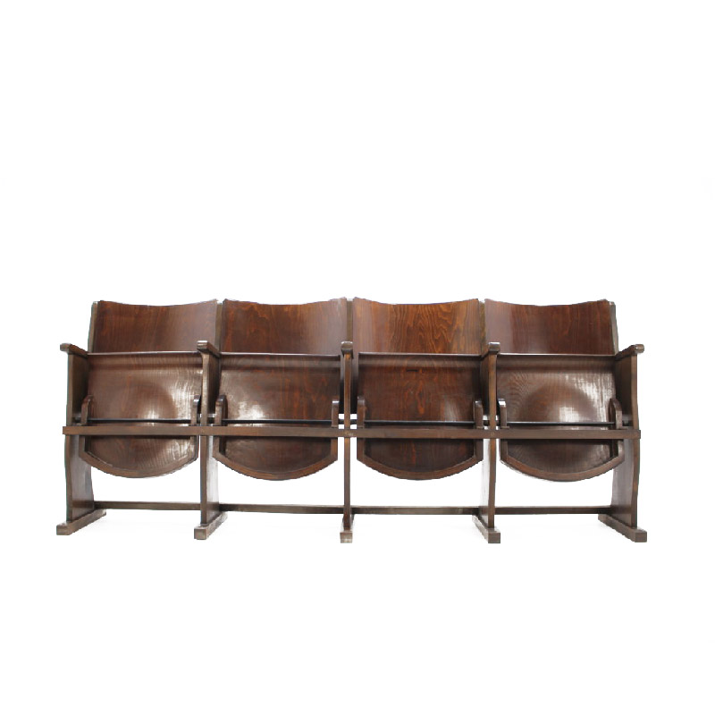 Row of cinema chairs / bench, 1950s