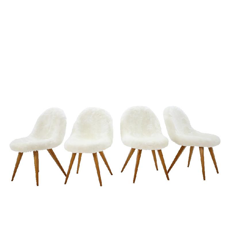 1960s Miroslav Navratil Shell Dining Chairs – set of 4