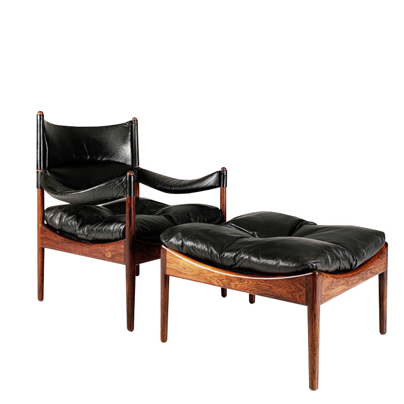 Danish Modus Chair and footstool by Kristian Vedel