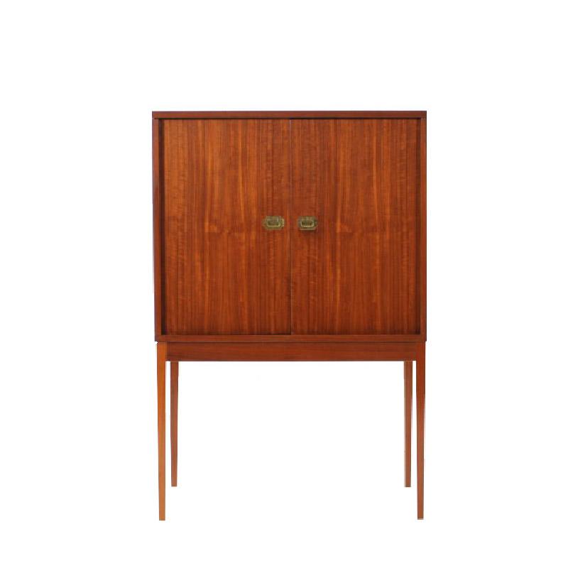 1950 Teak Bar Cabinet by Henning Korch for Silkeborg Møbelfabrik