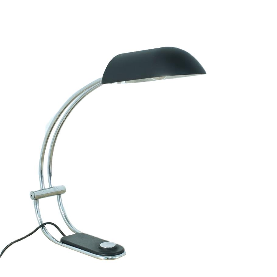 Matte Black Desk Lamp by Egon Hillebrand, 1970s