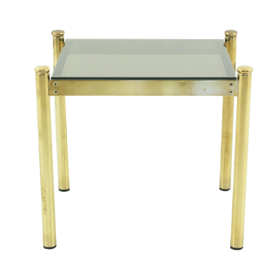 Vintage Brass Coffee Table With Smoked Glass Top Design Addict Coffee Side Tables