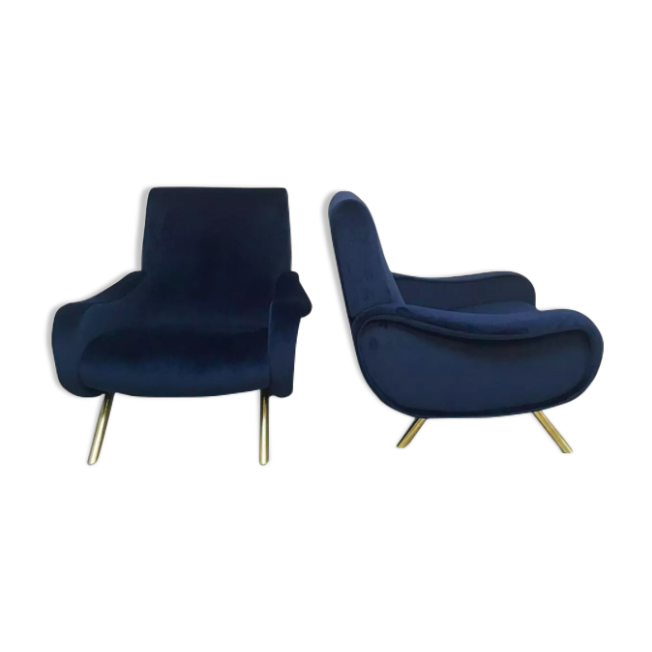 """Pair of """"Lady chairs"""" by Marco Zanuso"""