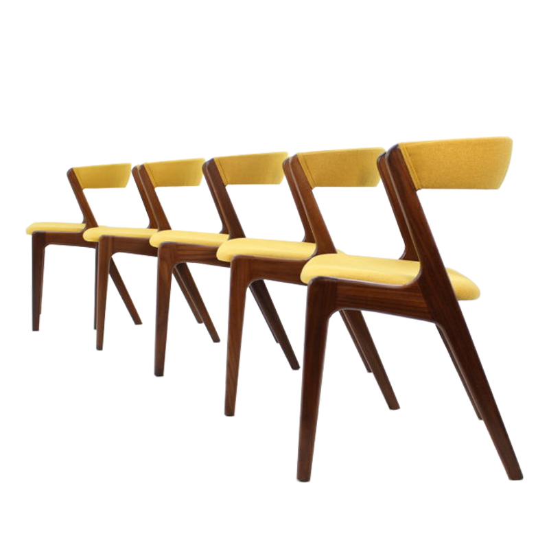 Kai Kristiansen Teak Dining Chairs, set of 6
