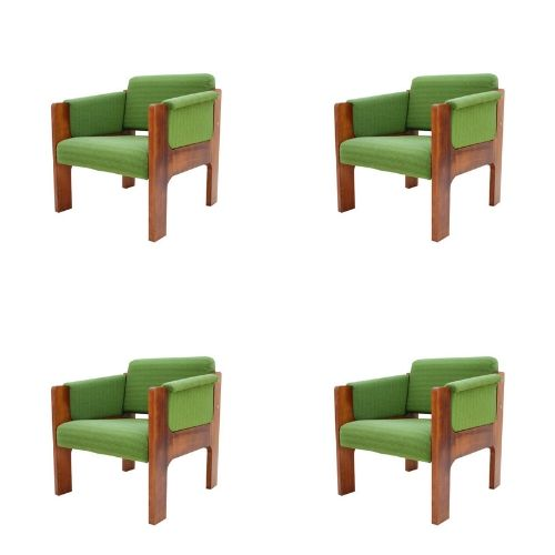 Set of mid century design armchairs, 1970s