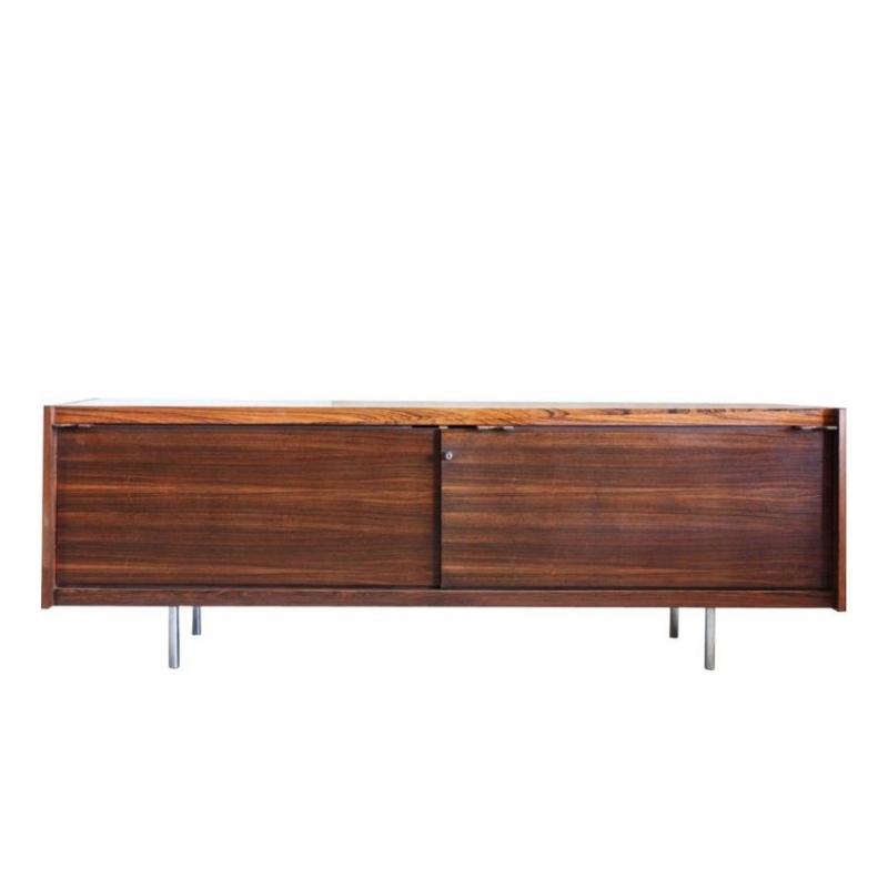 Low Rosewood Sideboard by Sven Ivar Dysthe for Dokka Møbler, 1960s