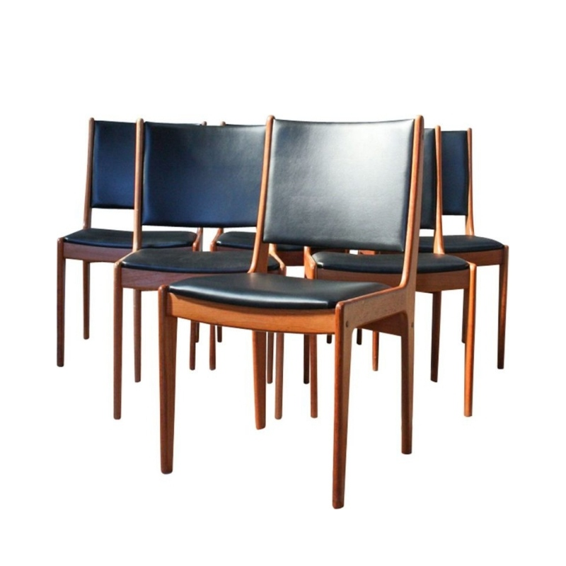 Teak Dining Chairs by Johannes Andersen for Uldum Mobelfabrik, 1960s, Set of 6