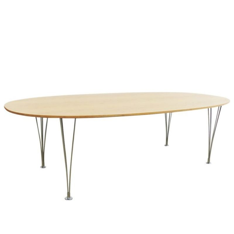 Elliptical table of Piet Hein and Bruno Mathsson for Fritz Hansen