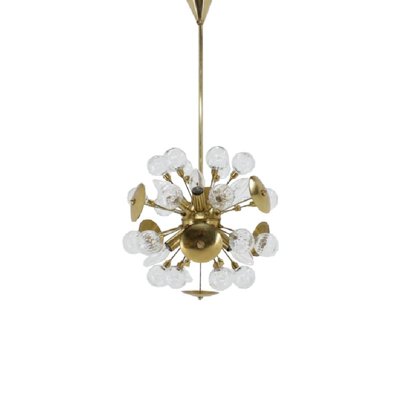 Mid- century rare pendant Železnobrodské sklo, Sputnik, 1960´s