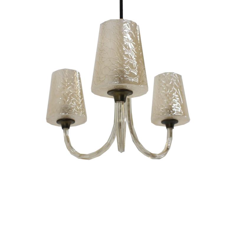 Big all glass chandelier, 1940´s