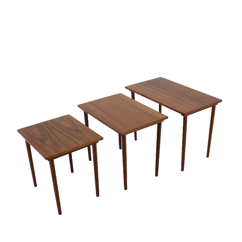 1960s Teak Nesting Tables, Denmark