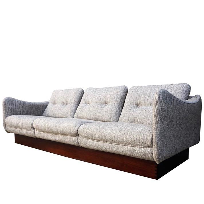 Gray Fabric Dachshund Sofa, Michel Mortier, Steiner Editor