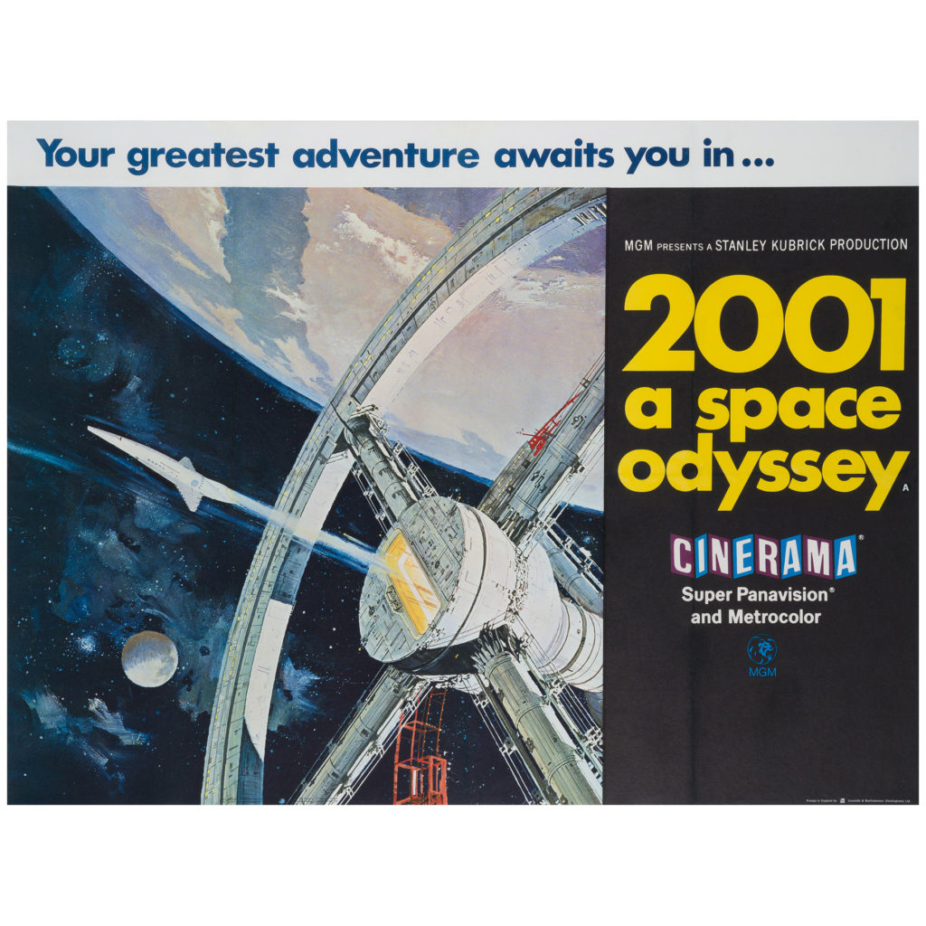 2001 A Space Odyssey Film Movie Poster Original Vintage 1968