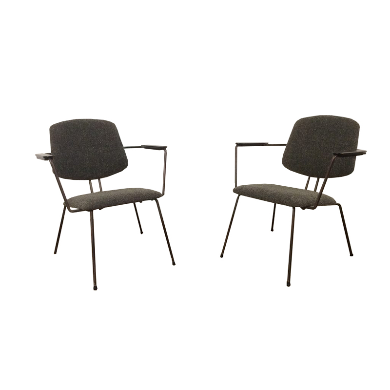 Armchairs by Rudolf Wolf for Elsrijk