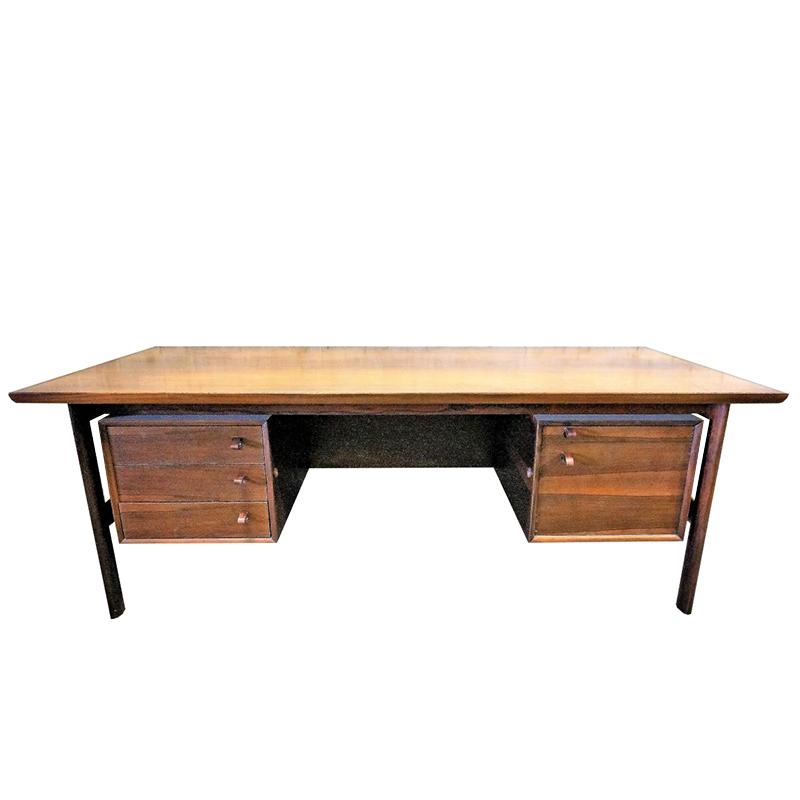 Large Rosewood Executive Desk by Arne Vodder