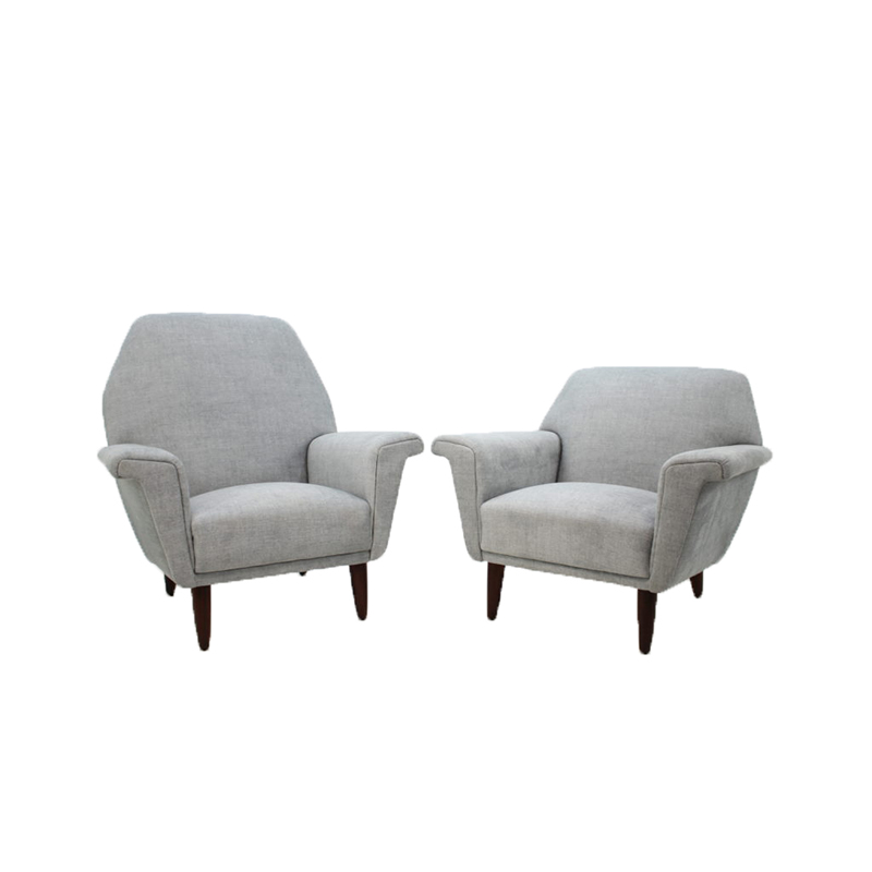 1960 Set of Two Georg Thams Lounge Chairs