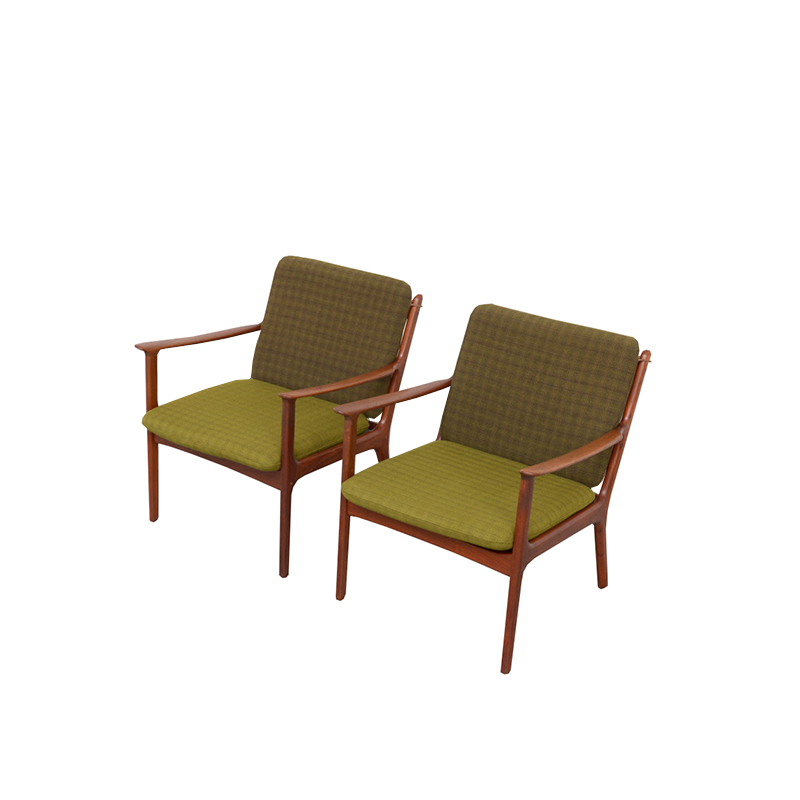 Pair of Armchairs by Ole Wanscher for PJ