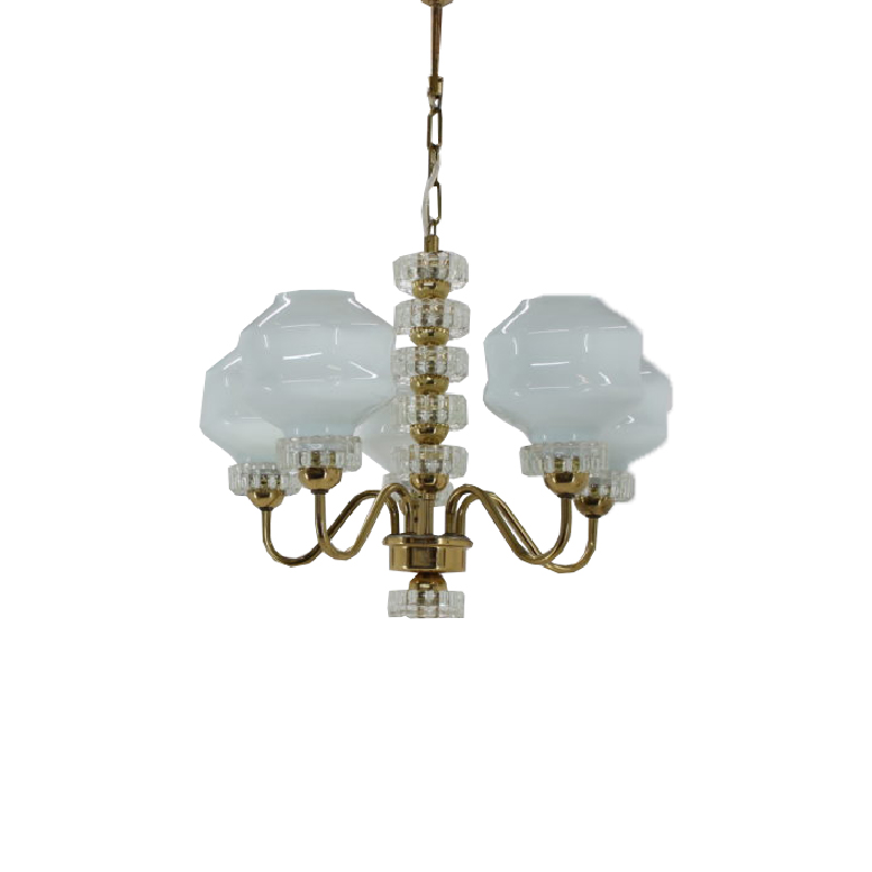 Set of chandelier and wall lamp, 1970´s.
