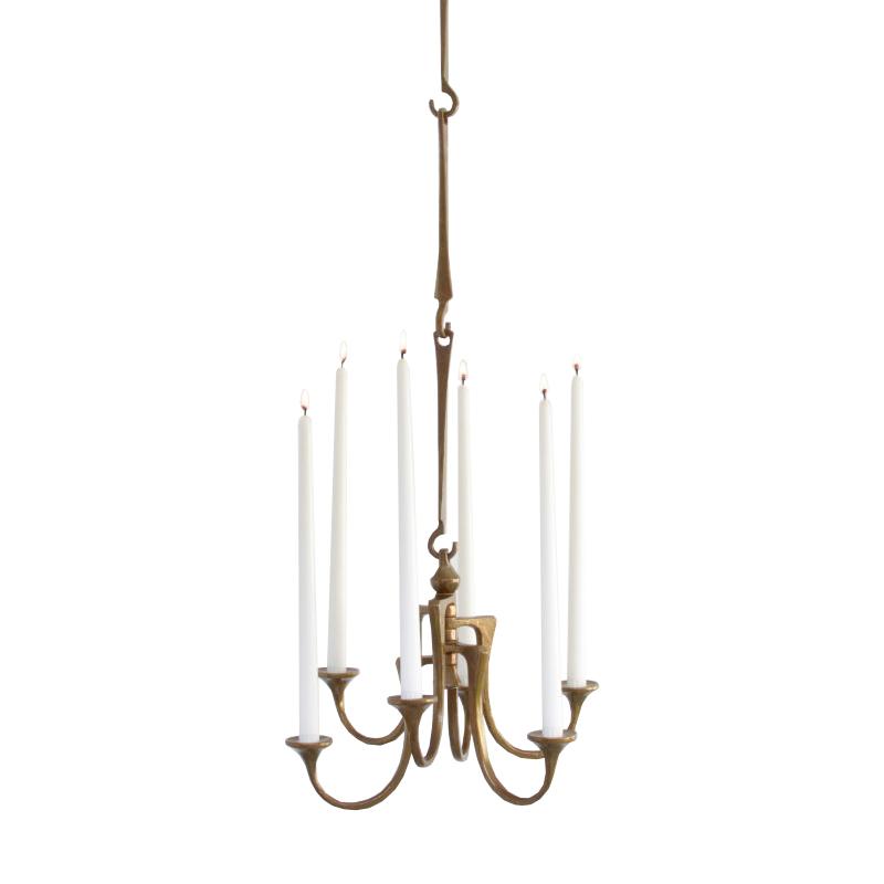 Decorative Brass Pendant Candle Holder