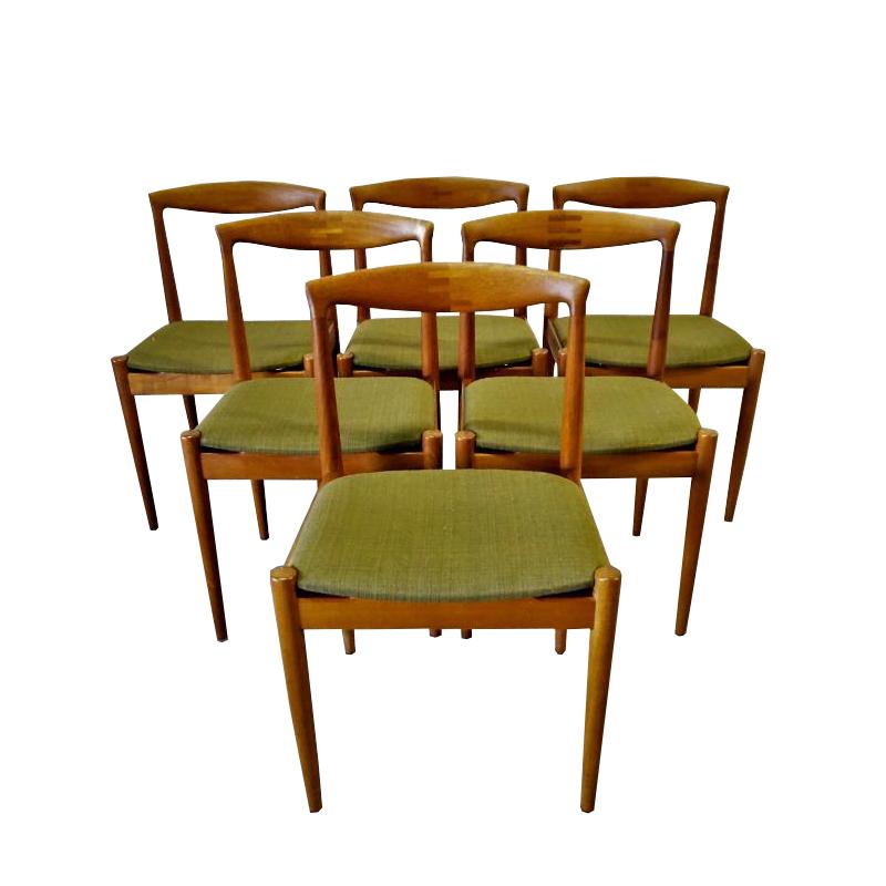 Set Of 6 Scandinavian Teak Chairs, Arne Vodder