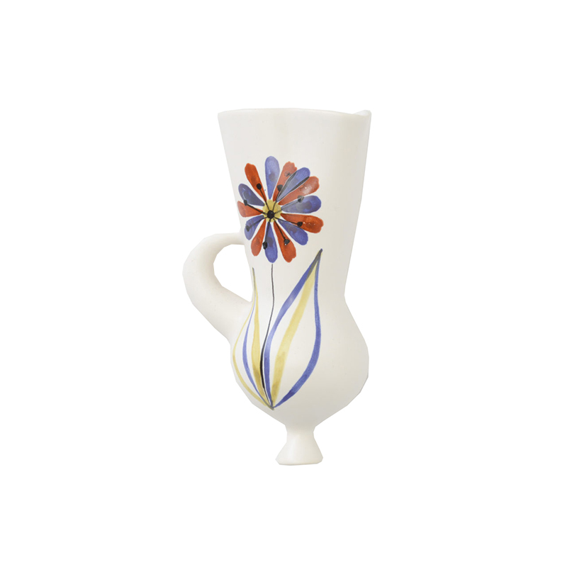 Wall Mounted Ceramic Vase in the style of Roger Capron