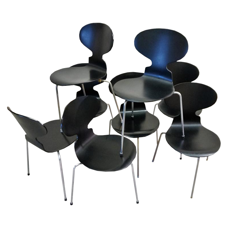 "Series Of 8 ""ant"" Chairs, Model 3100, Arne Jacobsen"